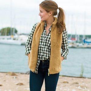 J. Crew faux fur tan vest size Small